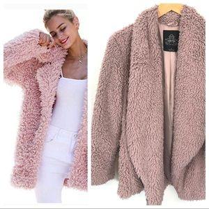 Jackets & Blazers - Pink Teddy Coat